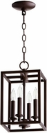 Quorum 6731-4-186 Cuboid Oiled Bronze 8  Foyer Lighting Fixture