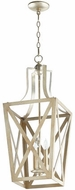 Quorum 6736-3-60 Iso Trap Aged Silver Leaf 12 Foyer Lighting Fixture