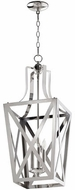 Quorum 6736-3-62 Iso Trap Polished Nickel 12 Entryway Light Fixture