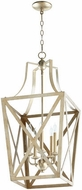Quorum 6736-5-60 Iso Trap Aged Silver Leaf 15 Entryway Light Fixture
