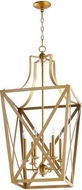 Quorum 6736-6-80 Iso Trap Aged Brass 18 Entryway Light Fixture