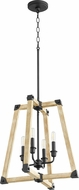 Quorum 6789-4-69 Alpine Contemporary Noir w/ Driftwood Finish Foyer Lighting