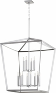 Quorum 6809-12-64 Manor Contemporary Classic Nickel Foyer Light Fixture