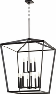 Quorum 6809-12-69 Manor Modern Noir Foyer Lighting Fixture