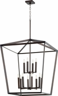 Quorum 6809-12-86 Manor Contemporary Oiled Bronze Entryway Light Fixture