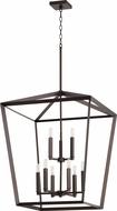 Quorum 6809-9-86 Manor Modern Oiled Bronze Foyer Lighting Fixture
