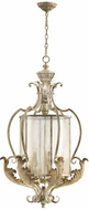 Quorum 6837-9-70 Florence Traditional Persian White Foyer Light Fixture