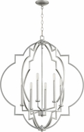 Quorum 6842-6-64 Dublin Contemporary Classic Nickel Foyer Light Fixture