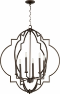 Quorum 6842-6-86 Dublin Contemporary Oiled Bronze Entryway Light Fixture