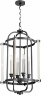 Quorum 6864-4-69 Modern Noir 16.5  Entryway Light Fixture