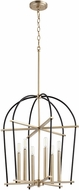 Quorum 687-6-6980 Espy Contemporary Noir w/ Aged Brass 20.5  Foyer Light Fixture