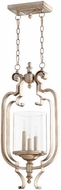 Quorum 6880-3-60 Chalon Contemporary Aged Silver Leaf Entryway Light Fixture