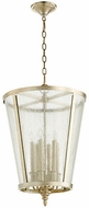 Quorum 689-6-60 Aged Silver Leaf w/ Clear/Seeded 16 Foyer Lighting Fixture