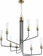 Quorum 695-8-6980 Helix Noir with Aged Brass 34.5 Ceiling Chandelier