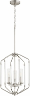 Quorum 6963-3-65 Citadel Contemporary Satin Nickel Entryway Light Fixture