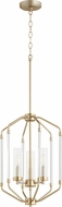 Quorum 6963-3-80 Citadel Modern Aged Brass Foyer Lighting