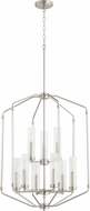 Quorum 6963-9-65 Citadel Contemporary Satin Nickel Entryway Light Fixture