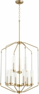 Quorum 6963-9-80 Citadel Modern Aged Brass Foyer Lighting