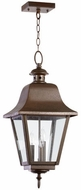 Quorum 7031-3-86 Bishop Oiled Bronze Outdoor Lighting Pendant