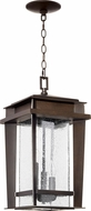 Quorum 7041-3-86 Easton Craftsman Oiled Bronze Pendant Light Fixture