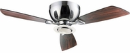 Quorum 70443-14 Nikko Modern Chrome w/ Dark Teak Blades Halogen 44  Ceiling Fan