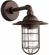 Quorum 7082-86 Bowery Nautical Oiled Bronze Outdoor Wall Sconce Lighting