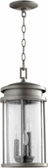 Quorum 7111-3-3 Hadley Graphite Outdoor 8  Ceiling Pendant Light