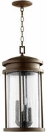 Quorum 7111-4-86 Hadley Oiled Bronze Outdoor 10  Pendant Light