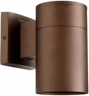 Quorum 720-86 Cylinder Contemporary Oiled Bronze Outdoor 4.25 Wall Sconce Lighting