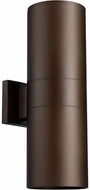 Quorum 721-2-86 Cylinder Contemporary Oiled Bronze Outdoor 5.75 Wall Light Sconce