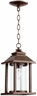 Quorum 7273-86 Crusoe Oiled Bronze Outdoor Pendant Hanging Light