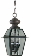 Quorum 728-2-36 Duvall Bronze Outdoor Drop Lighting