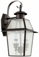 Quorum 729-2-136 Duvall Bronze w/ Clear/Seeded Exterior Light Sconce