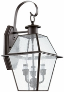 Quorum 729-3-136 Duvall Bronze w/ Clear/Seeded Exterior Lamp Sconce
