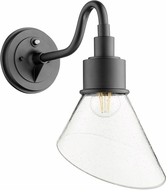 Quorum 734-69 Torrey Contemporary Noir w/ Clear/Seeded Outdoor 8.5 Wall Lighting Sconce