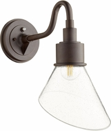 Quorum 734-86 Torrey Modern Oiled Bronze w/ Clear/Seeded Exterior 8.5 Wall Sconce Lighting
