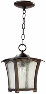 Quorum 7511-8-86 Gable Oiled Bronze Exterior Drop Lighting Fixture