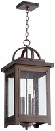 Quorum 758-4-86 Riverdale Oiled Bronze Exterior Pendant Light
