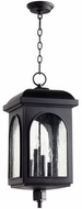 Quorum 7604-4-69 Fuller Noir Exterior Lighting Pendant