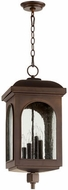 Quorum 7604-4-86 Fuller Oiled Bronze Outdoor Pendant Lamp