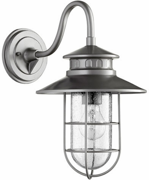Quorum 7697-3 Moriarty Nautical Graphite Outdoor 9.5 Wall Light Sconce