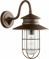 Quorum 7698-86 Moriarty Nautical Oiled Bronze Exterior 11.25  Wall Lamp
