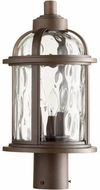 Quorum 7762-3-86 Winston Oiled Bronze Exterior Post Lamp