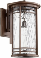 Quorum 7916-11186 Larson Oiled Bronze w/ Clear Hammered Glass Outdoor Sconce Lighting