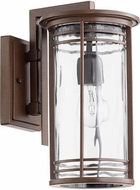 Quorum 7916-7-186 Larson Oiled Bronze w/ Clear Hammered Glass Exterior Lamp Sconce