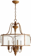 Quorum 8006-4-94 Salento French Umber Drum Hanging Lamp
