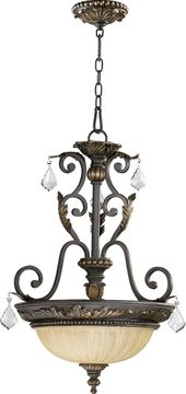 Quorum 8057-3-44 Rio Salado Toasted Sienna With Mystic Silver Pendant Lighting
