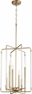 Quorum 8114-6-80 Optic Contemporary Aged Brass Entryway Light Fixture