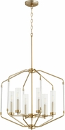 Quorum 8163-6-80 Citadel Contemporary Aged Brass Entryway Light Fixture