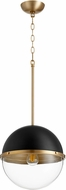 Quorum 83-12-6980 Modern Noir w/ Aged Brass 13  Lighting Pendant